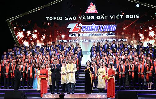 THIÊN LONG ĐƯỢC VINH DANH TRONG TOP 10 SAO VÀNG ĐẤT VIỆT NĂM 2018
